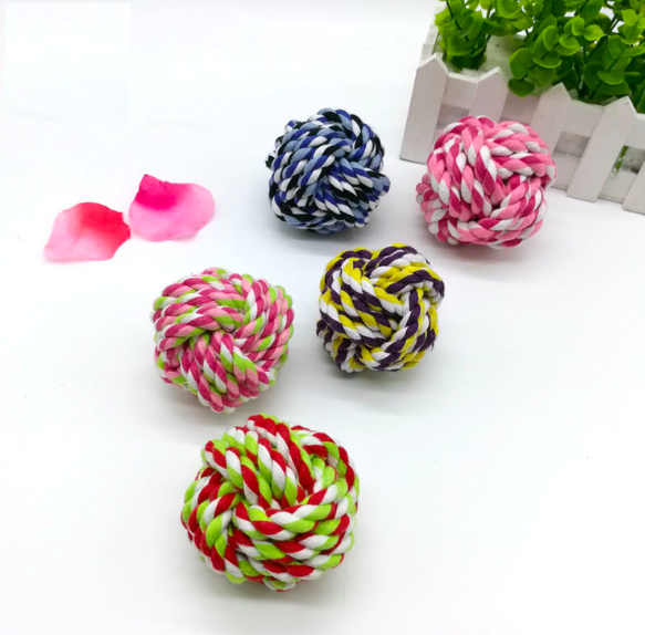 10cm Big ball new products dog toys china supplier chew rope best pet rope ball dog toy