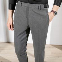 2020 на весну в Корейском стиле Бизнес Брюки Для мужчин Повседневное тонкий классический офисный социальный костюм брюки мужской костюм для ...(Китай)