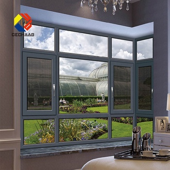 Casement 8 Ft Metal Window Aluminium Frame Windows With Mosquito Mesh