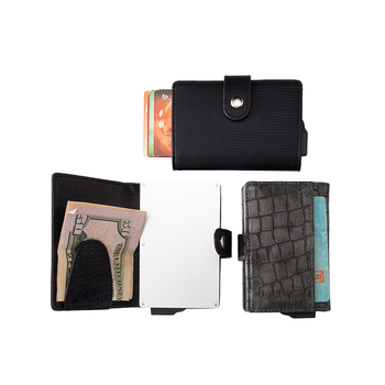 RFID Blocking business men custom logo wallet credit card
