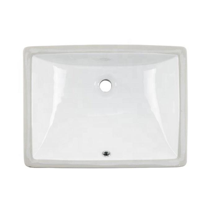 Bajo encimera lavabo en el cuarto de baño de cerámica de las cuencas buque vanidad lavabo en blanco 1813