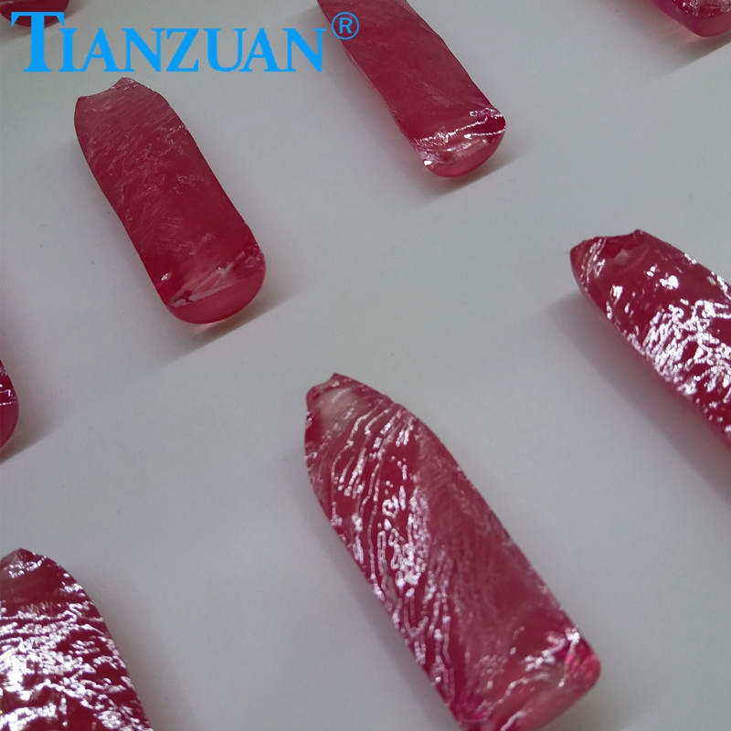 Synthetic Ruby Rough/Ruby Red Raw Material/1.5# Corundum