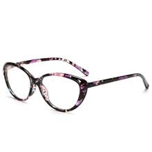 Zilead очки оправа «кошачий глаз» оправа с прозрачными линзами женские Брендовые очки оптические оправы близорукость черные красные оправы д...(Китай)