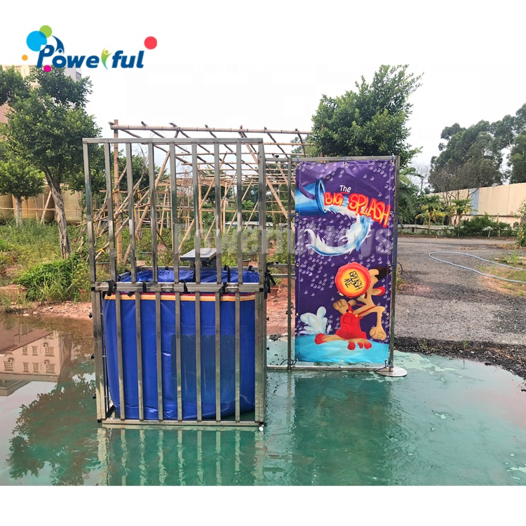 Water park popular game interactive inflatable Dunk Tank Game