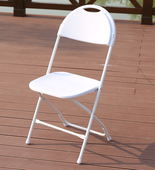 Chrome plastic steel frame PP Folding Chair