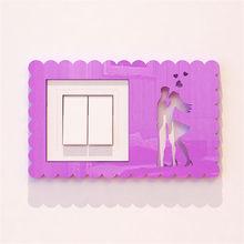 Креативный светильник, переключатель, наклейки, акриловый переключатель, плакат, современный стиль, переключатель для гостиной, декоративн...(Китай)