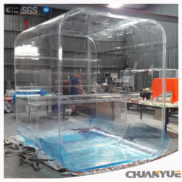 Transparent display cabinet acrylic transparent room acrylic cabinet 6mm acrylic sheet price