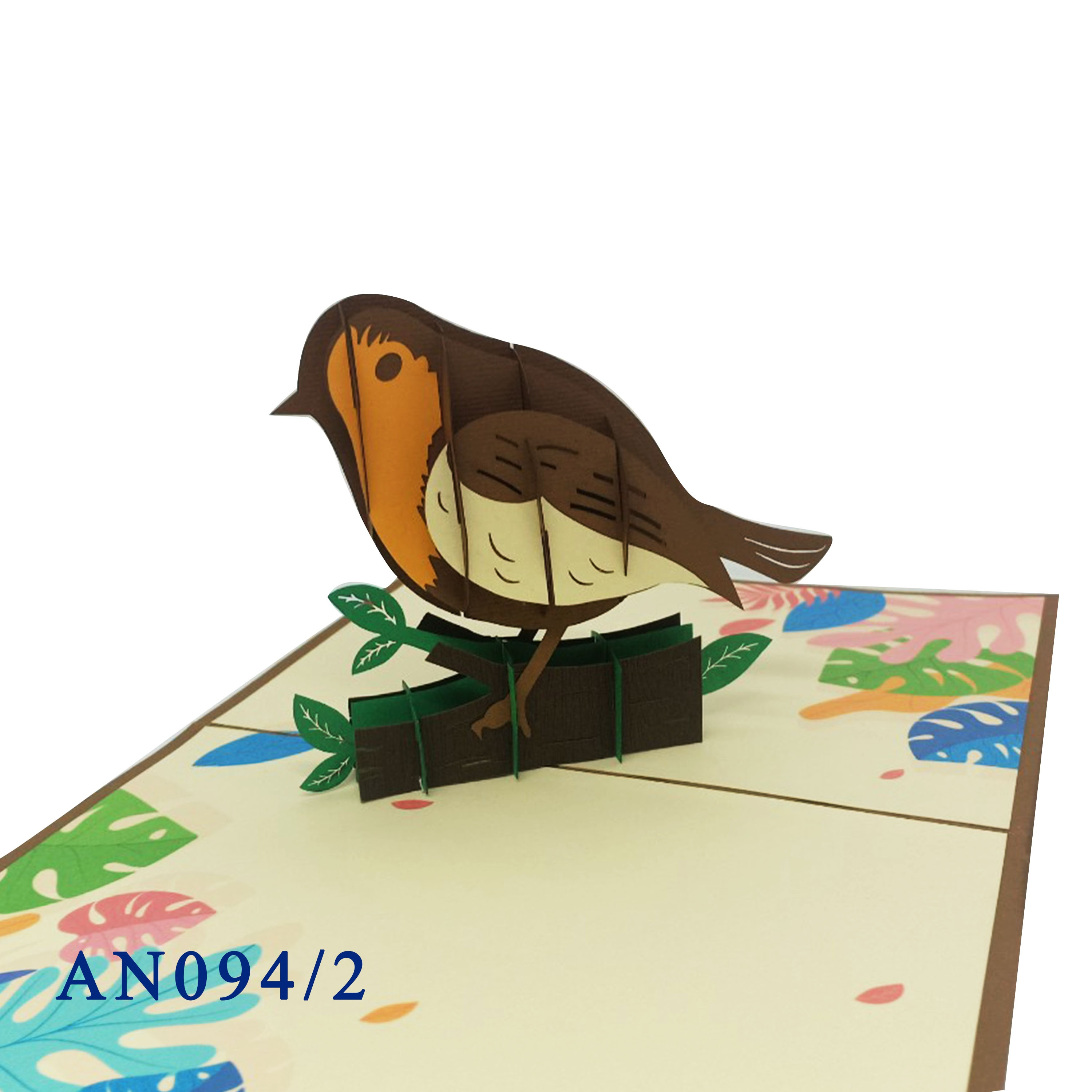 Pink Tropical Parrot 3D unique Animal Pop Up Greeting Card Custom Design Wholesale Vietnam Handmade Laser cut Gift