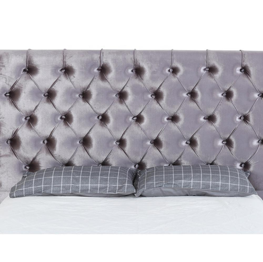 Soft fabric Modern House Royal Bedroom Bed for Global Market