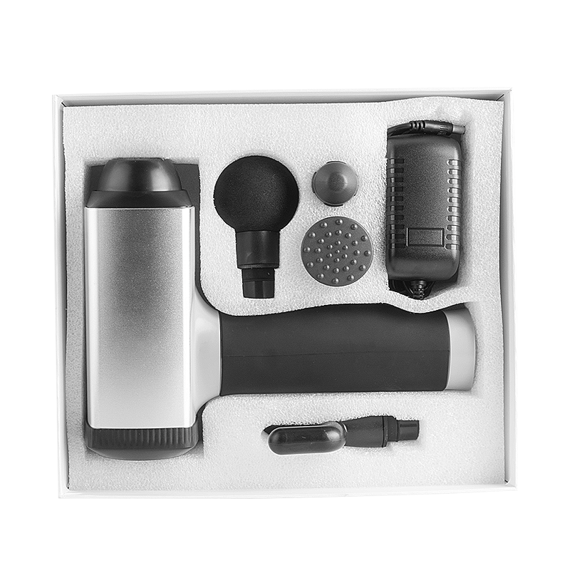 most popular 2600mA 4 massage head brushless body massage gun rechargeable gun