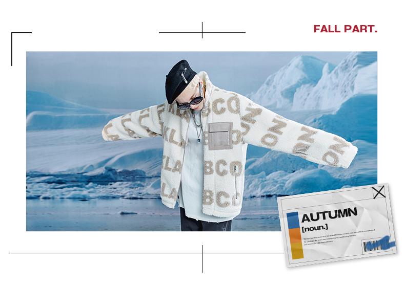 CONKLAB en gros personnalisé lettre complète impression polaire hommes fermeture éclair col montant veste décontractée pour les femmes, plus la taille des manteaux d'hiver