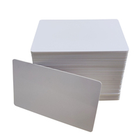 2020 alibabaa factory clear credit card size ID white blank plastic pvc cards