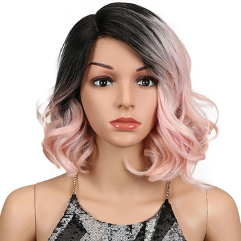 Noble synthetic hair wigs curly wigs colored synthetic wigs lace front