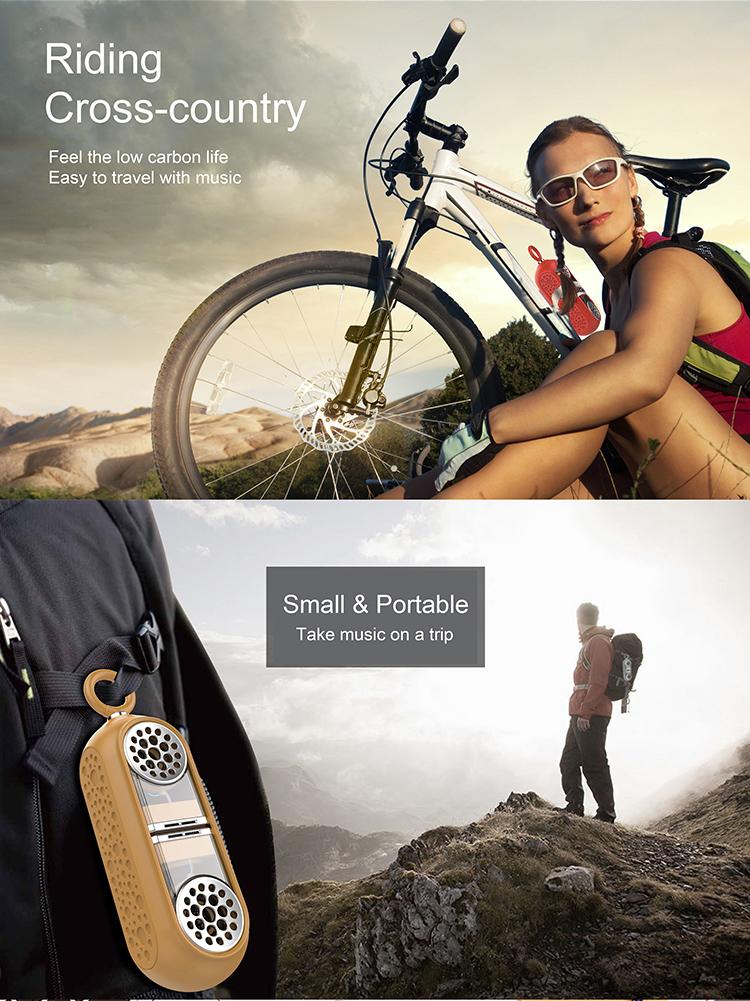 Siliconen Die Draagbare Draadloze Luidspreker met Geluid en Bass voor IOS Android Smartphones