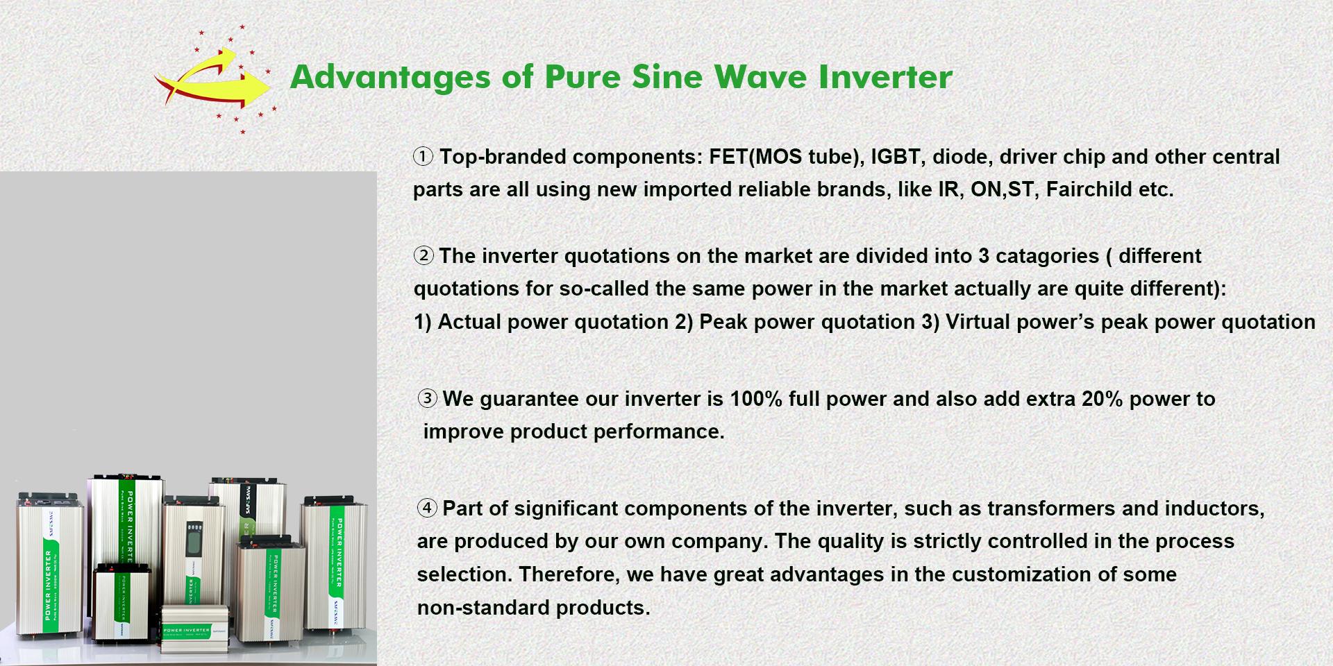 Dc Naar Ac Omvormer 12V 24V Ingang 110V 220V 230V 5000W Zuivere Sinus wave Thuis Omvormer Converter Eenfase