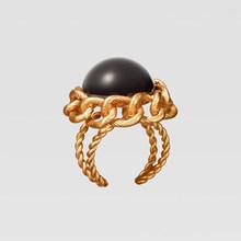 Лучшие женские новые наборы ювелирных изделий ZA, золотое ожерелье-чокер, серьги-подвески из смолы для женщин, модные Би Открытые Кольца, Сва...(Китай)