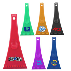 Best selling superior quality personal logo printed durable plastic translucent fridge freezer car ice breaker snow scraper