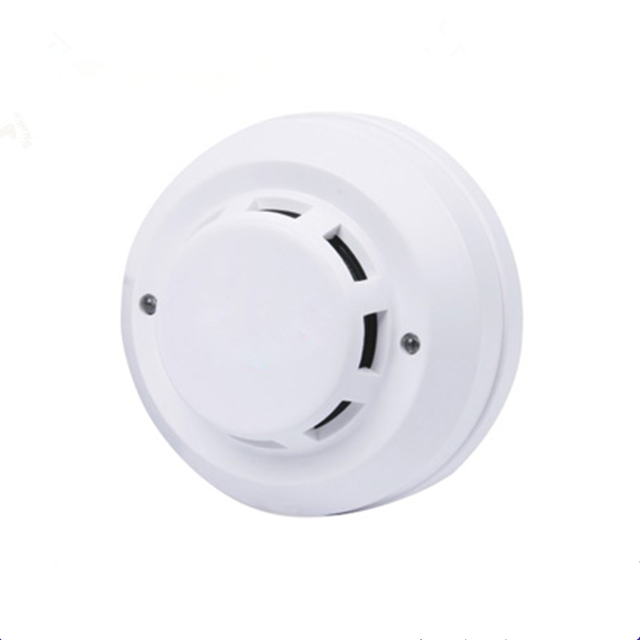 Photoelectric Type Smoke Alarm Detector With Dual Leds White Smart