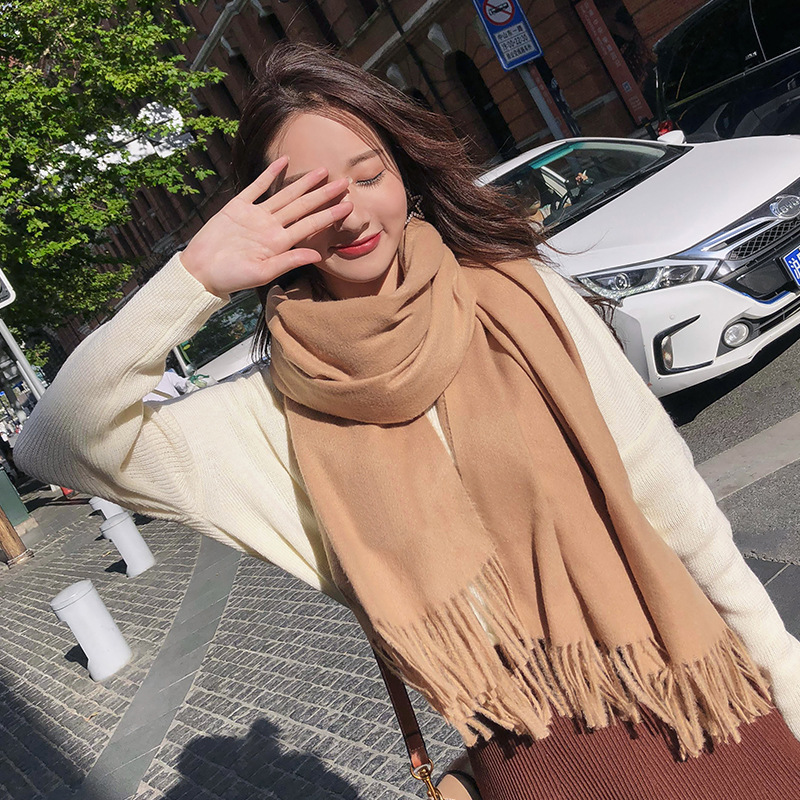 Zooying women winter scarf knitted shawl scarf fashion accessories