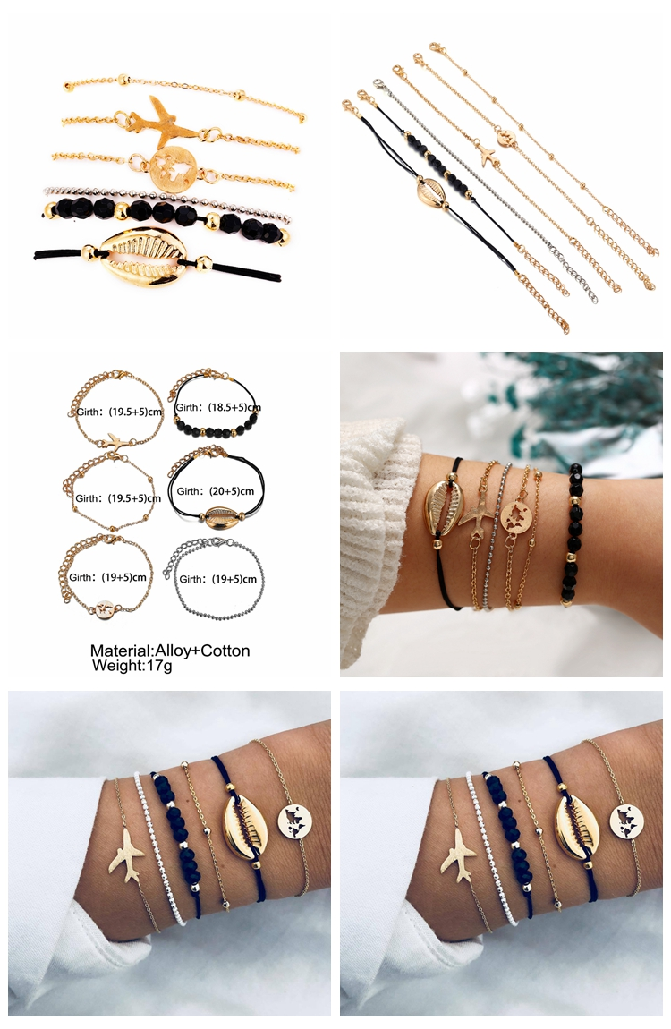 2019 Korean designer custom fashion luxury flower airplane of life ocean gemstone birthstone bracelets for women and girls