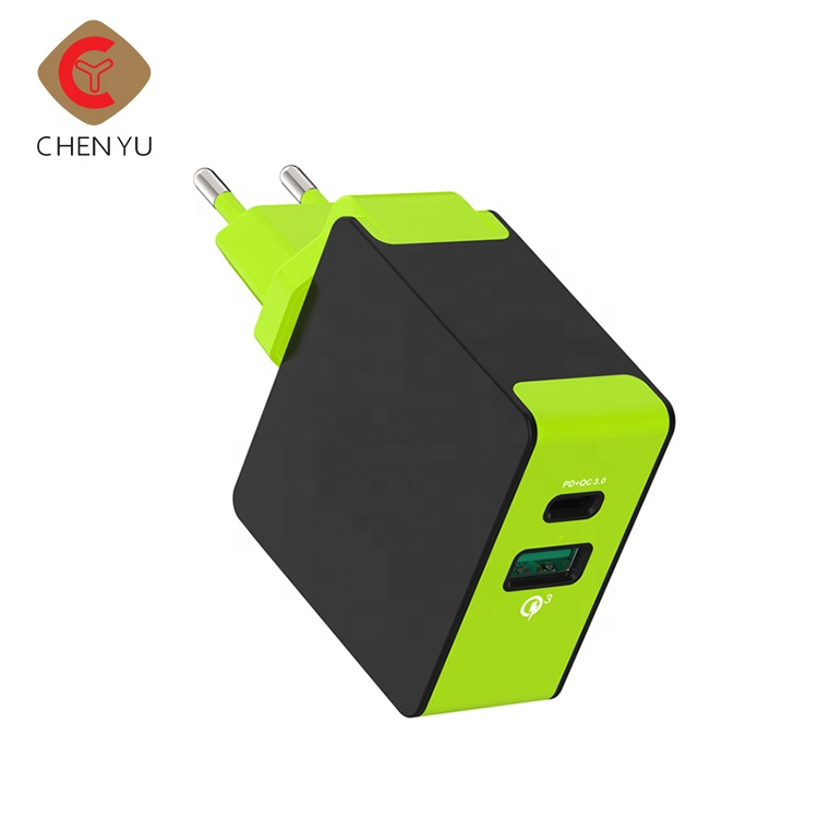 Cheap wholesale Type C + USB electric 5v 3a usb power bank wall charger