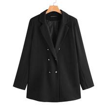 ZANZEA женские пиджаки с отложным воротником и двойной грудью, Офисная верхняя одежда для женщин(Китай)