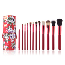 In Lager 12pcs Make-Up Pinsel Set Mit Halter Professionelle Private Label Gesichts Foundation Pulver <span class=keywords><strong>Kosmetik</strong></span> Pinsel Kit