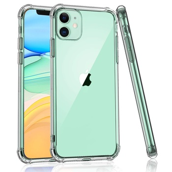 For iPhone 11 Pro Max Case Clear Protective Heavy Duty Case with Soft TPU Flexible Transparent Shockproof Bumper Case Cover