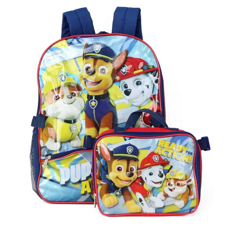 Sets Children's Backpack Kids Cartoon School Bags For Boys Anime School Backpack Schoolbag with Lunch Bag