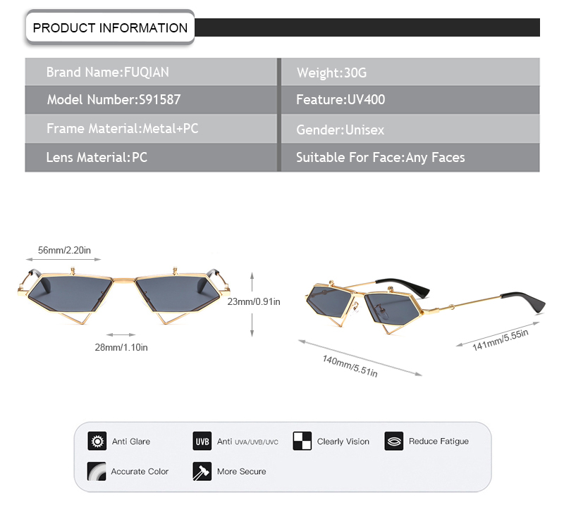 Fuqian lady polarised glasses meaning ask online for racing-9