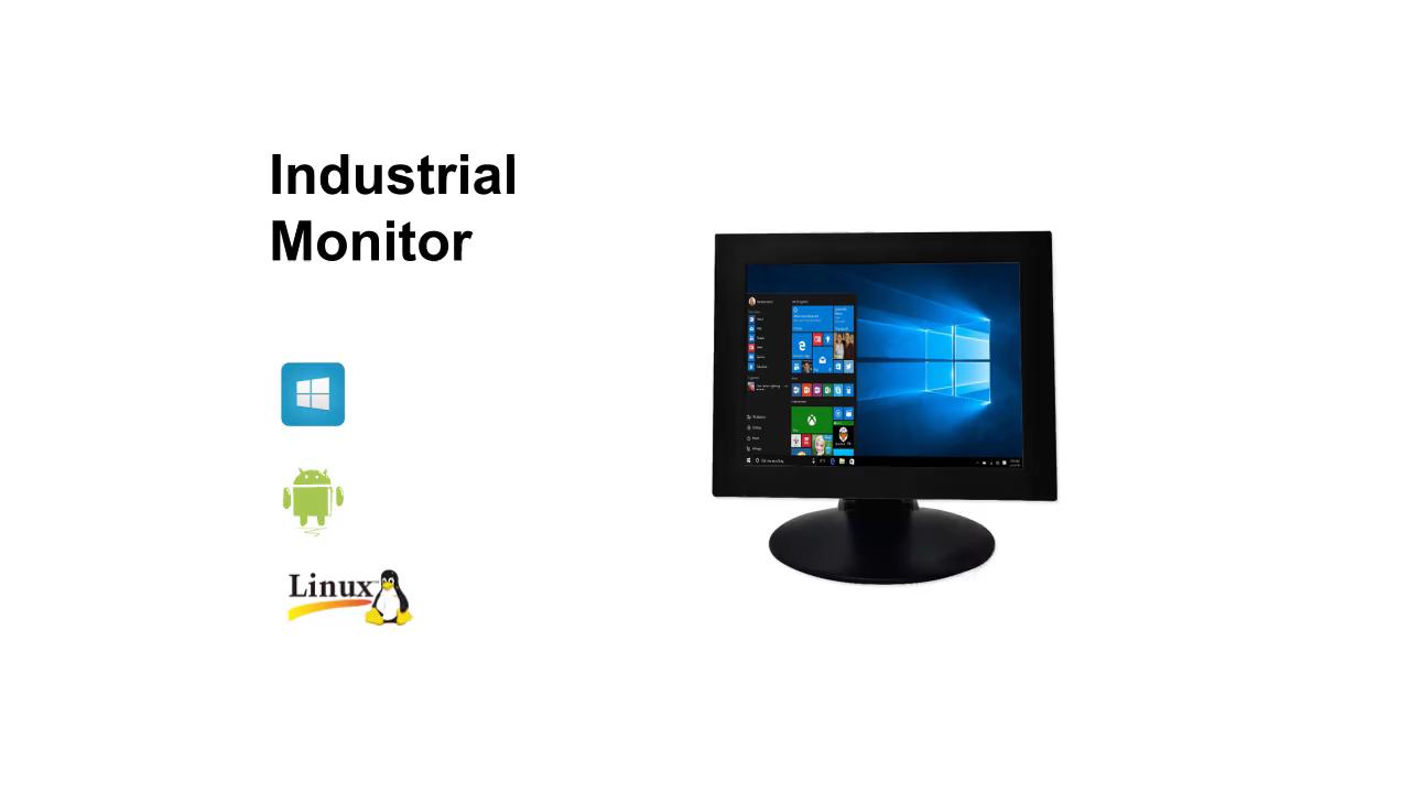17 inç dokunmatik ekran hepsi bir arada acil merkezi kullanımı endüstriyel panel pc özelleştirmek