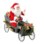 80cm Animated Christmas Car Santa Claus with Lighting Musical Ornament Decoration Holiday Figurine Collection Traditional Xmas