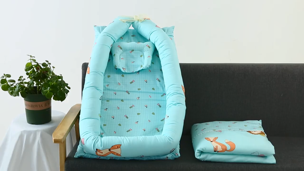 Nôi Trẻ Em Bằng Vải Bông 100% Hữu Ích Di Động Nôi Du Lịch Em Bé Ngủ Snugg Baby Nest