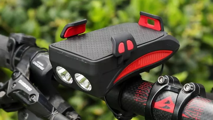Bicycle Accessories High Power 400 Lumen LED Bicycle Light With 4000 mAh Power Bank USB Rechargeable Front Bike Light