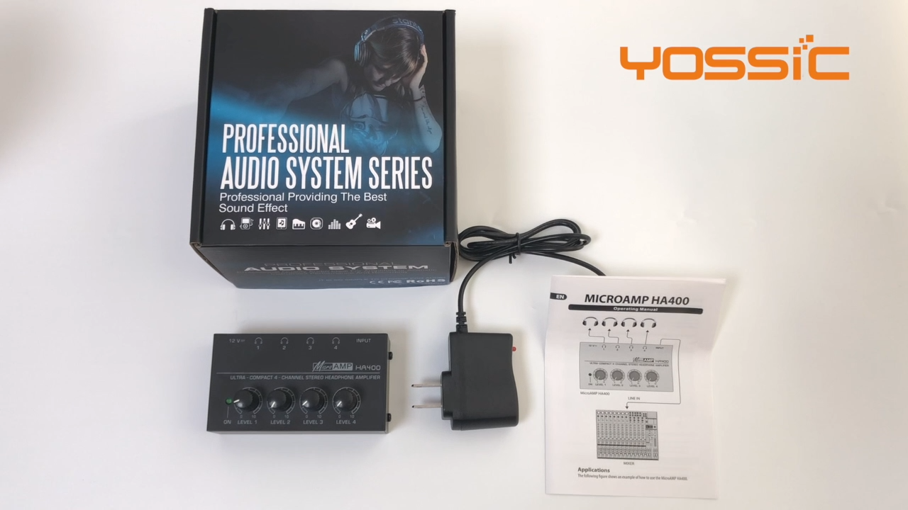 4 channel headphone amplifier for professional studio monitoring