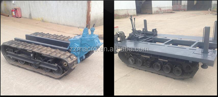 Garden Farm Mine Hydraulic Steel Track Crawler Mini Dumper/transporter