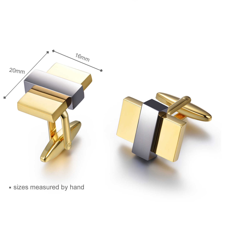 Classic High Polished Cufflink 925 Sterling Silver Cufflink Jewelry(图2)