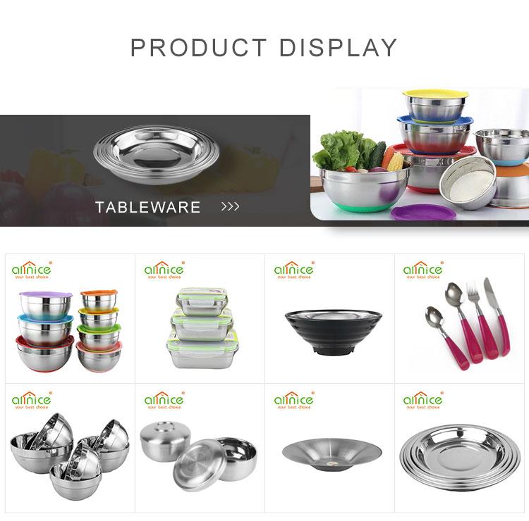 Оптовая продажа бытовой используемой посуды Круглая Большая миска из нержавеющей стали с крышками