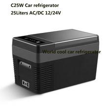 25L AC/DC12V24V автомобильный холодильник портативный Кемпинг Пикник холодильник мини холодильник Компрессор Автомобильный морозильник автомоб...(Китай)