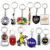 manufacturer wholesale personalized custom PVC leather metal key chain rings