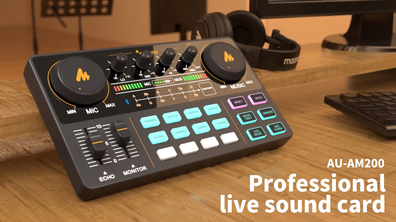 MAONO Professional 12 Kinds of Electronic Sound Music Mixer Audio Professional Digital Audio Mixer