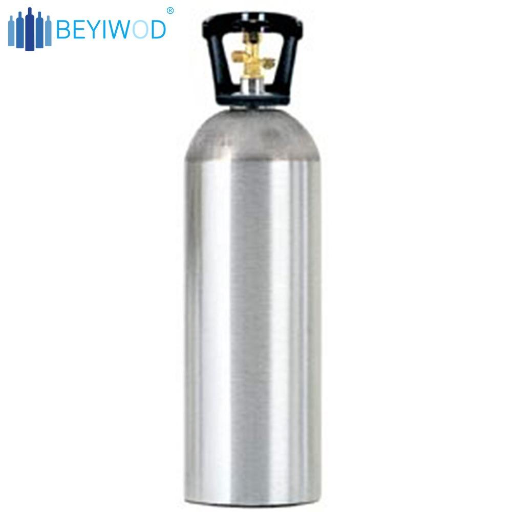2.5lbs 5lbs 10lbs 20lbs Chine en aluminium co2 gaz cylindre utilisé des machines à bière