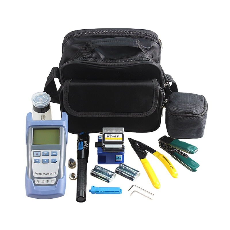 Hot sale Fiber Power Meter Optical Light Source Tester <strong>Network</strong> 1mW VFL FC-6S Cleaver Fiber Optical FTTH Tool Kit