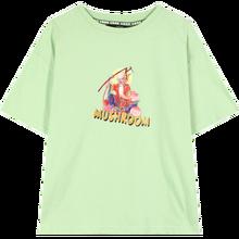 Женская футболка с принтом ELFSACK, розовая Повседневная футболка с зеленым принтом в Корейском стиле, лето 2020(China)