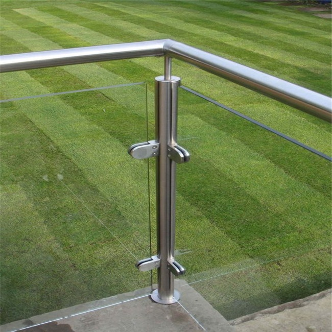 Bahasa Polandia Pipa Baluster 12 Mm Marah Aluminium Frameless U Stainless Steel Panel Kaca Railing Balkon Keran Post