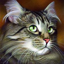 5D алмазная живопись DIY, милый кот, алмазная вышивка, полностью круглые стразы, вышивка крестиком, мозаика, домашний декор, настенное искусств...(Китай)
