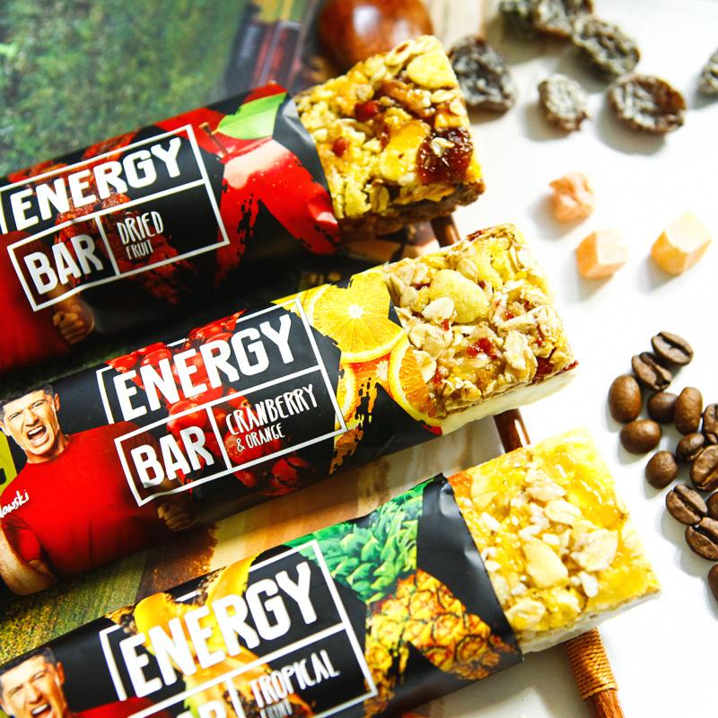 RL9 Promotional Tropical Fruit & oat Cereal energy grain Bar 25*40G