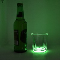 Glass cup that glows at night