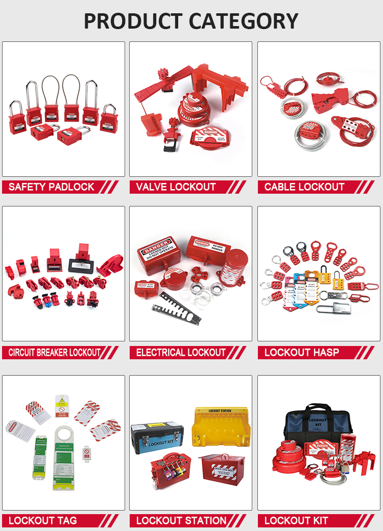 Small Size Group Loto Safety Loto Emergency Lockout Tagout Kit Electrical