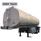 Food water transport 2 axles 25000 liters stainless steel insulation milk tanker semi trailer for sale